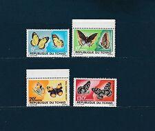 Tchad  animaux insectes papillons  de 1967 num: 137/40   **