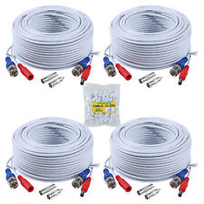 4X100ft 30M White CCTV Extension Cable for Surveillance Camera System UK Ship