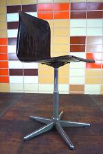 70er Vintage Desk Chair Pagholz Pagwood Swivel Chair Adjustable 60er 1/4