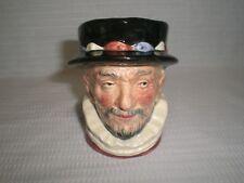 """Royal Doulton Small Toby Jug / Mug """"The Beefeater"""" D6206; 3 3/8"""" Tall"""