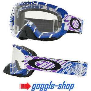 OAKLEY O-FRAME 2.0 MOTOCROSS MX GOGGLES SKULL RUSHMORE PURPLE BLUE / CLEAR LENS