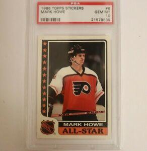 1986-87 Topps All-Star Stickers Mark Howe #6 HOF PSA 10 POP 1