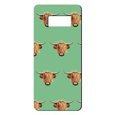 For Samsung Galaxy S8 Silicone Case Highland Cow Pattern - S5446