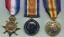 A COPY of the F/S WWI Trio of British 1914/15 Star, the War and Victory  Medals