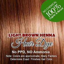 2 Light Brown 100% Organic Chemical Free Henna Allin Hair Color Hair Dye Natural