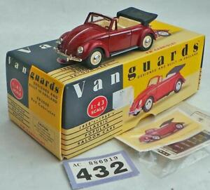 L432 Vanguard VA2000 VW cabriolet  red MIB