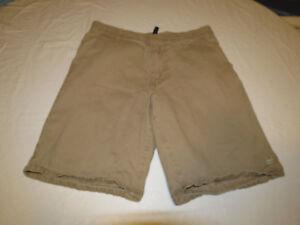 Men's Zoo York 30 solid khaki school casual shorts surf skater EUC #