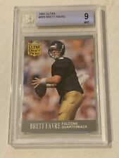 1991 Fleer Ultra  Brett Favre Rookie Draft Picks  Graded ~ BGS 9 - Packers