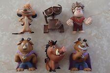 Funko Mystery Minis Disney Series Vinyl Figures Lot of 6 Beast Lion King Wall-E
