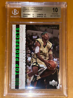 2003-04 UPPER DECK PROSPECTS LeBron James PROMOS ROOKIE #P1 BGS 10 PRISTINE PSA