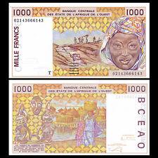 West African States Togo, 1000 Francs, 2002, P-811Tl, UNC