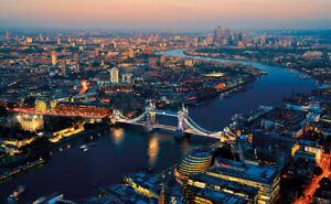 Fototapete London 210x140cm Tapete mit Kleister Wandbild XXL Schlafzimmer Deko