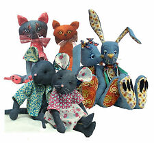 Rabbit Cat and Mouse Sewing Pattern Pack. All Three Patterns by Pcbangles