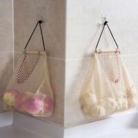 HN- Fruit Vegetable Garlic Onion Hanging Storage Mesh Bag Organizer Pouch Eager