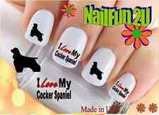 Nail Art #124 Dog Breed Love my Cocker Spaniel 2 WaterSlide Nail Decals Transfer