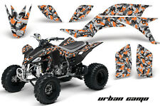 ATV Graphics Kit Quad Decal Sticker Wrap For Yamaha YFZ450 2004-2013 URBAN ORNG