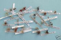 Sélection  24 mouches Françaises - mouches seches - dry flies