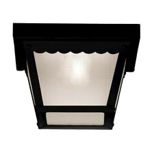 "Savoy House Exterior Collections 1 Light 8"" Flush Mount, Black - 5-5937-BK"
