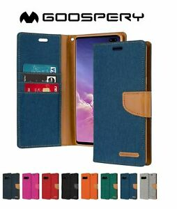 Wallet Case Fit Galaxy S10 Plus S9 S8 Plus Flip Fabric Card Cover Samsung