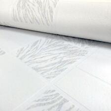 Rasch Kitchen Bathroom Tile Effect Glitter Silver White Textured Vinyl Wallpaper