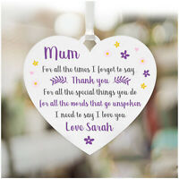 MUM I Love You PERSONALISED Birthday Plaque Gifts for Mummy Nanny Nanna Her
