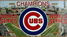 Chicago Cubs 2016 World Series Champs Champions High Gloss License Plate