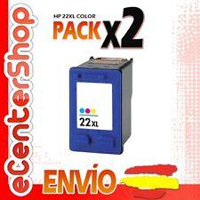 2 Cartuchos Tinta Color HP 22XL Reman HP Deskjet D2360