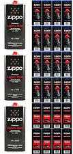 Zippo Fuel Fluid 3 Cans 12 Ounce & 24 Value Packs (96 Flints + 8  Wicks)