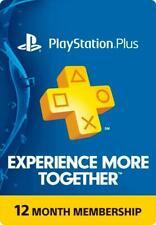 Playstation Plus 12 months PSN US Membership