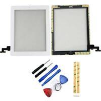 Vitre Ecran Tactile iPad 2 A1395 Blanc Assemblée Bouton Home Adhésif PREMIUM