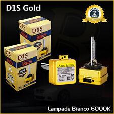 Coppia D1S Gold Lampade Xenon Hid 35W Bianco Ghiaccio 6000K Lancia Phedra 02-10