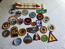 Lot of 25 Vintage Boy Scout BSA Patch Patches & Arrow Sash WWW Seton Expo OA