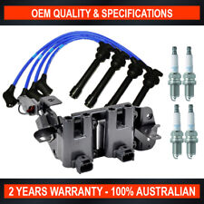 Complete Ignition Coil Pack, Spark Plug & Lead Kit for Hyundai Accent & Getz