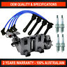 Complete Ignition Coil Pack, Spark Plug & Lead Kit for Kia Rio LX S Sports 1.4L