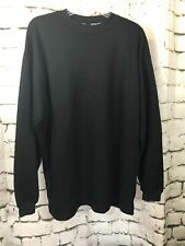 COTTON HERITAGE Black Long Sleeve Shirt Top Crew Neck Large Pullover USA