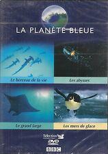 DVD DOCUMENTAIRE--LA PLANETE BLEUE--ABYSSES + GRAND LARGE + MERS DE GLACE--NEUF