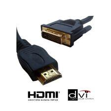 CABLE VIDEO HDMI MALE DVI MALE - 1,80 METRES - PLAQUE OR - CONSOLE DE JEU / TV