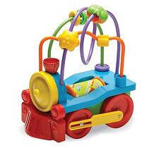 Baby Toddler Fun Time Bead Runner Push Along Kids Train Toy Gift New