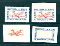MNH Canada Unlisted Semi Official Airmail Collection (Lot #RN169)