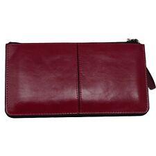Fushia Pink Top Zip Wallet with Wristlet