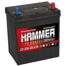 Autobatterie Hammer 12V 35Ah +Rechts Asia Starterbatterie ersetzt 32 34 36 40 Ah