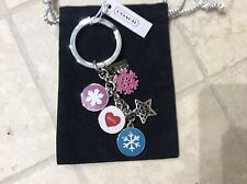 NWT COACH WINTER SNOWFLAKE MULTI MIX KEY RING /KEY CHAIN/ FOB F62725