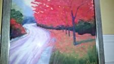 K. Lyon signed original fall pastel painting framed EC RARE!