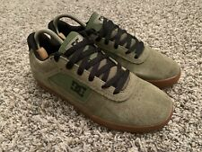 New listing DC Chris Cole Pro Olive Skate Shoes 303371 Size 8 Gum Sole Rare Skateboarding