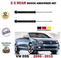 FOR VW EOS CABRIO 1.4 1.6 2.0 TSI FSI TFSI TDI 2006-> 2X REAR SHOCK ABSORBER SET
