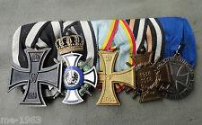 original  Spange mit Orden Preussen Hausorden von Hohenzollern