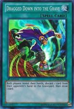 *** DRAGGED DOWN INTO THE GRAVE *** LCYW-EN174 SUPER RARE YUGIOH MINT/NM