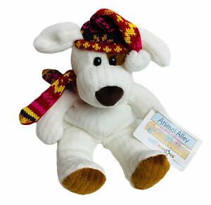 Animal Alley White Dog Plush Scarf And Hat Stuffed Puppy Toys R Us Christmas 9""