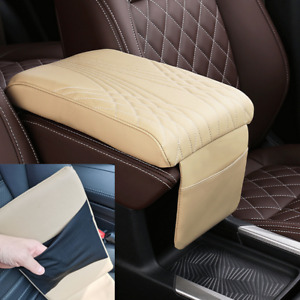 Car Accessories PU Leather Armrest Cushion Cover Center Console Box Pad Protect