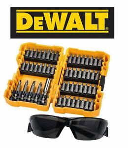 DEWALT DT71540-QZ EXTREME SCREWDRIVER BIT SET 53 PCS CASE INC SAFETY GLASSES